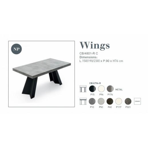 Стол металлический Connubia Wings CB/4801-RC