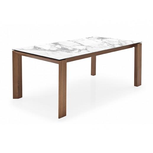 Стол деревянный Calligaris Omnia Glass CS/4058-LV 160