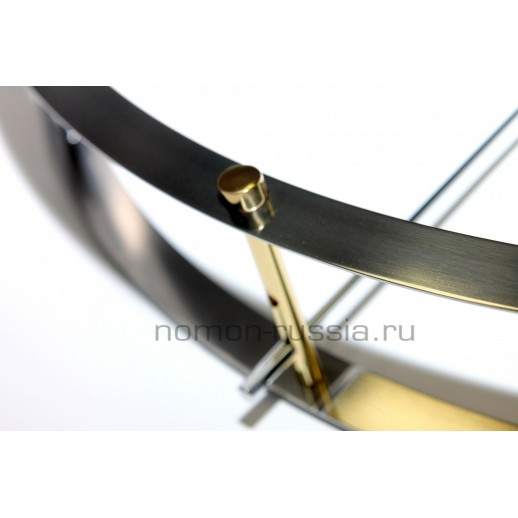Часы Nomon DOBLE O STEEL.GOLD/WENGE, 70CM
