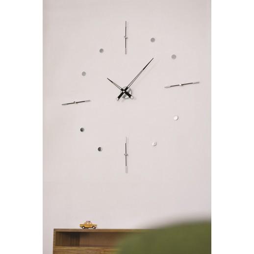 Часы Nomon Mixto i BLACK, chrome, d=110cm.
